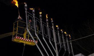 Зажигание 8 свечи Большой городской Ханукии